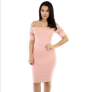 "Dresses & Skirts - ""This is Me"" Strapless Bodycon Dress-Blush"